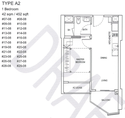 City Gate Floor Plan 1BR Loft