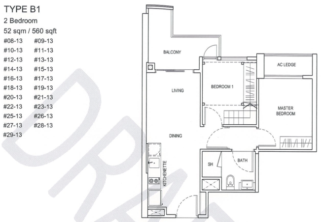 City Gate Floor Plans :: 2 Bedroom Loft