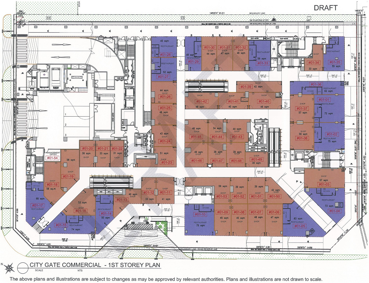 CityGate Floor Plan :: Shops Storey 1