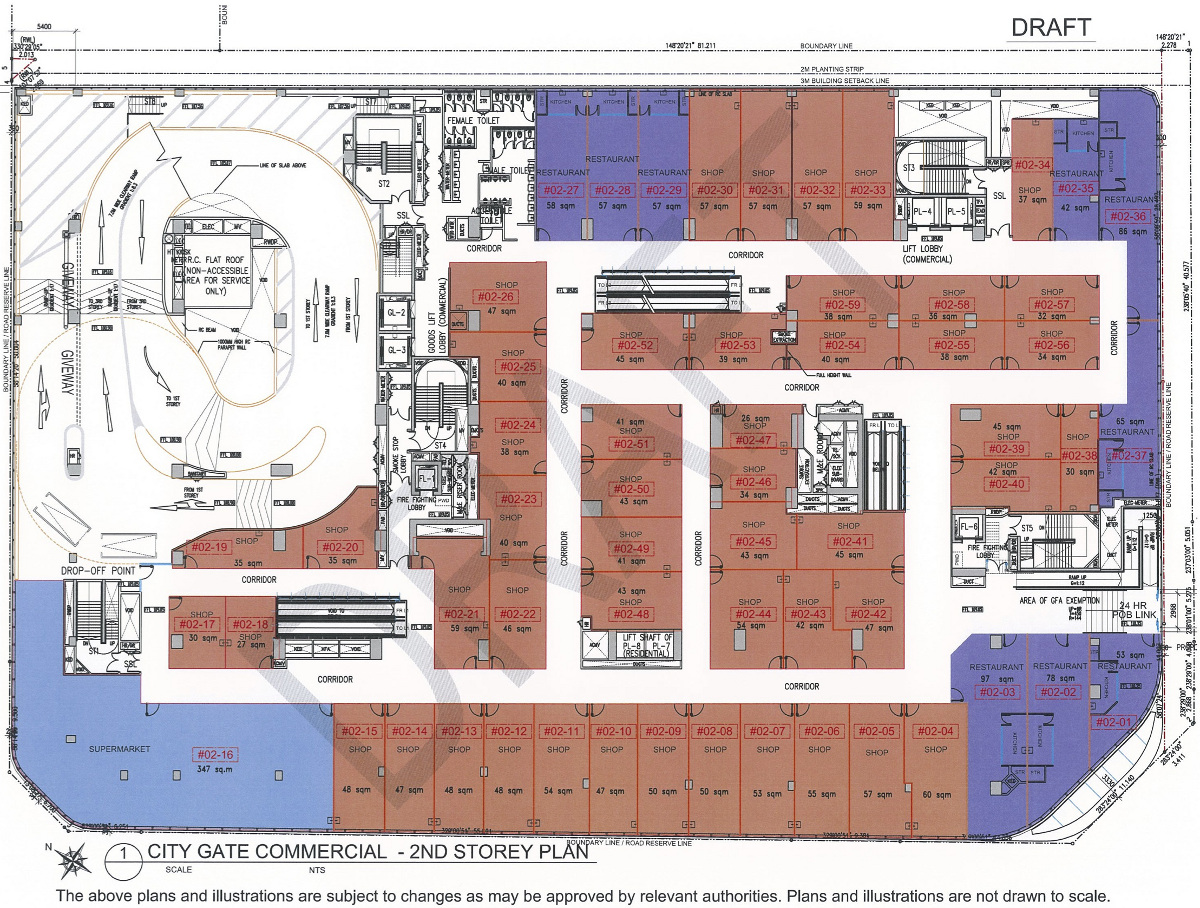 CityGate Floor Plans :: Shops Storey 2